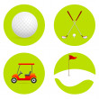 Golf icons — Stock Photo #5963175