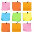 Pin with colorful papers — Stock Photo