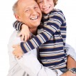 Royalty-Free Stock Photo: Grandfather and grandson