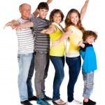 Attractive, happy caucasian american family — Stock Photo