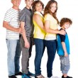 Attractive, happy caucasian american family — Stock Photo