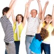 Cheerful family of five — Stock Photo #5969801
