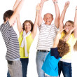 Cheerful family of five — Stock Photo