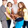 United family of five, great bonding — Stock Photo #5969809