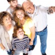 Self portrait of happy family — Stock Photo