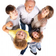Aerial view of happy family — Stock Photo