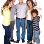 Stylish thumbs-up family — Stock Photo #5969852