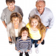 Happy and loving family of five - Stock Photo