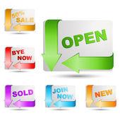 Sale icons — Stock Photo