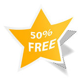 Fifty percent free tag — Stock Photo