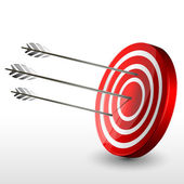 Target board with arrows — Stock Photo