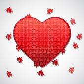 Jigsaw puzzle heart — Stock Photo