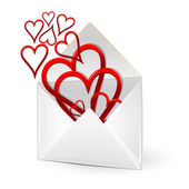 Loving hearts in envelope — Stock Photo