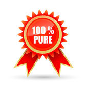 One hundred percent pure tag — Stock Photo