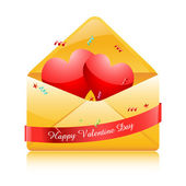 Hearts in envelope — Stock Photo