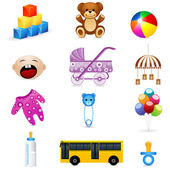 Kids icon — Stock Photo