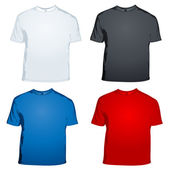 Male t shirts on white background — Stock Photo