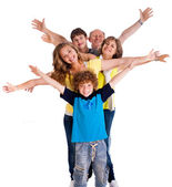 Portrait of cheerful three generation family — Stock Photo