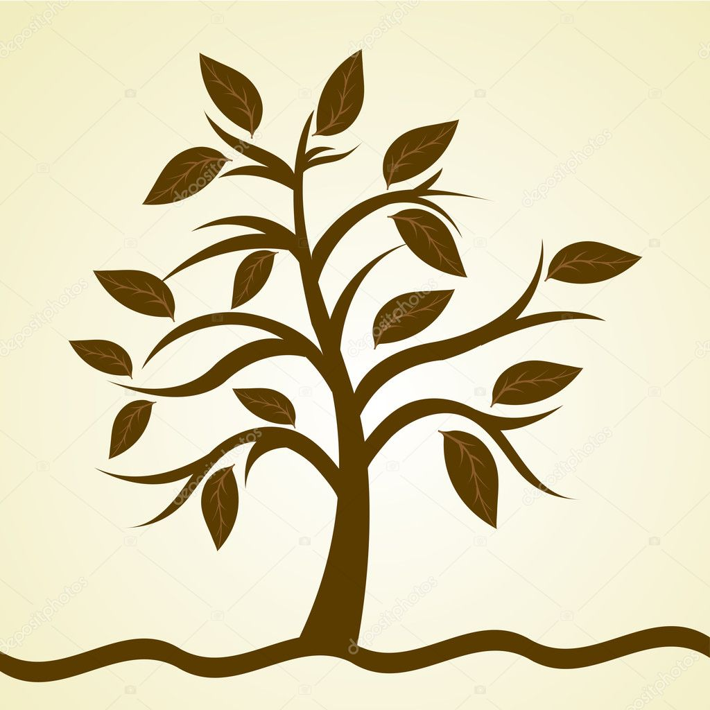 Illustration of natural tree on isolated background — Stock Photo #5962391