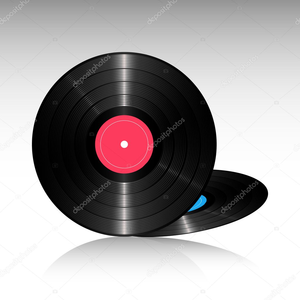 Illustration of compact discs on white background — Stock Photo #5962432