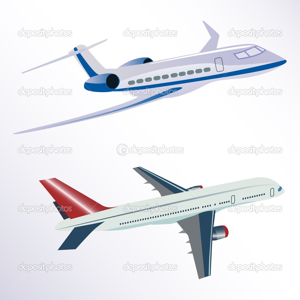 Illustration of aero plane on white background — Stock Photo #5962690
