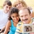 Attractive family pose for a self portrait — Stock Photo #6400136