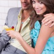 Stock Photo: Amorous couple celebrating together