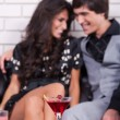 Couple on date in bar or night club — Stock Photo #6532066