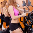Group of four in the gym — Stock Photo #6532170