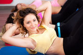Group of gym in an aerobics class — ストック写真