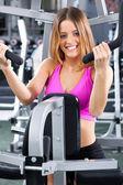 Professional female fitness instructor — Stock Photo