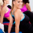 Group of gym in an aerobics class - Stock Photo