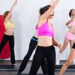 Royalty-Free Stock Photo: Group of gym in an aerobics class