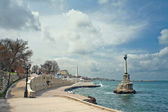 Embankment of city of Sevastopol — Stock Photo
