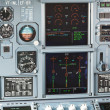 Aircraft cockpit dashboard - Stock Photo