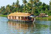 Houseboat on Kerala backwaters, India — Stock Photo