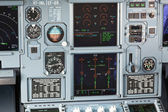 Aircraft cockpit dashboard — Stock Photo