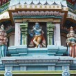 Sculptures on Hindu temple gopura (tower) - Stock Photo