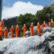 Buddhist monk statues — Stock Photo