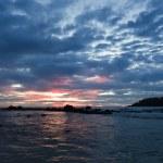 Ocean sunset. Mirissa, Sri Lanka — Stock Photo