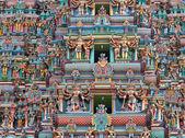 Skulpturen auf hindu tempelturm — Stockfoto