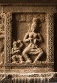 Bas reliefs in Hindue temple. Arunachaleswar Temple. Thiruvannam — Stock Photo