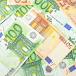Background from  euro banknotes — Stock Photo