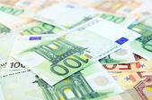 Antecedentes de los billetes en euros — Foto de Stock