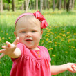 Outdoor portrait of a cute little girl — Stock Photo #5694267