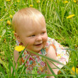 Outdoor portrait of a cute little girl — Stock Photo #5694279
