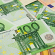 Background from  euro banknotes - Stock Photo