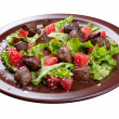 Stock Photo: Meat salad with vegetable and sesame.