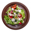 Vegetable salad from cheese — Stock Photo