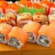 Japanese sushi Roll made of Smoked fish — Stock Photo